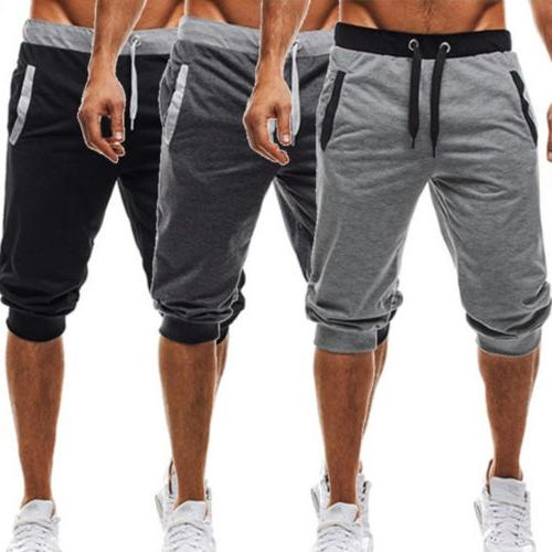 US Men Pants Casual Slack Sweatpant Shorts Trousers