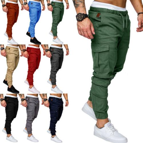 usa mens casual cargo track pants joggers