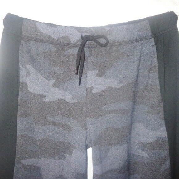 Victoria's Sweatpants Black Grey Camo Boyfriend Pants Lounge Logo