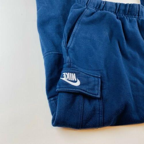 Nike Navy Blue Spellout Size Large