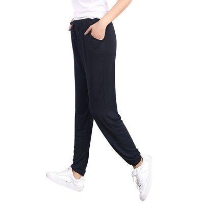 Women Cotton Harem Pants Sweatpants Jogger Fit Pants Trousers L