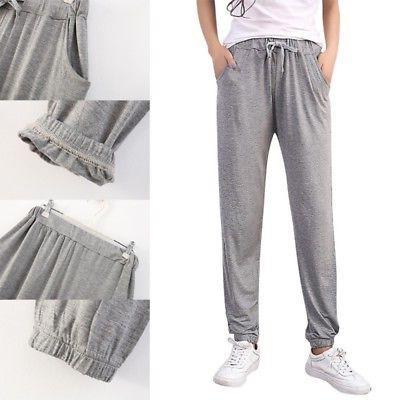 Women Cotton Sweatpants Jogger Sports Slim Fit L