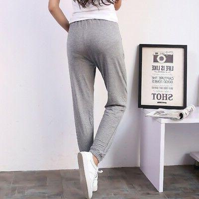 Women Harem Sweatpants Jogger Sports Slim Fit Pants Trousers L