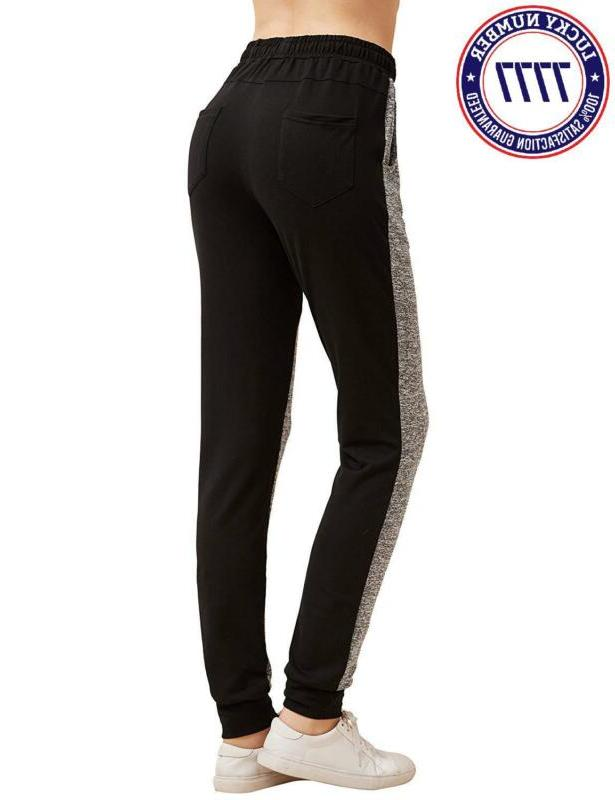 Sweatyrocks Women Pants Block Yoga