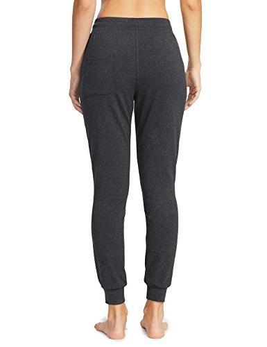 Baleaf Women's Yoga Lounge Sweat Pants Pockets Charcoal Size L