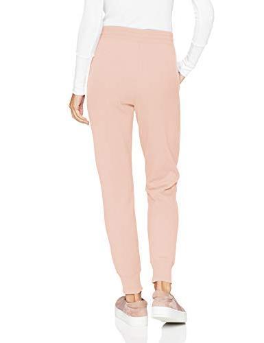 Amazon Essentials Women's Terry Fleece Jogger Sweatpant, -light pink,