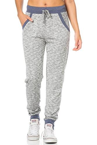 women s french terry sweatpants with side