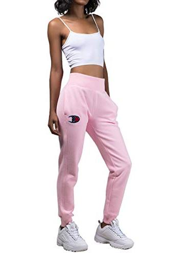 women s reverse weave jogger pink candy