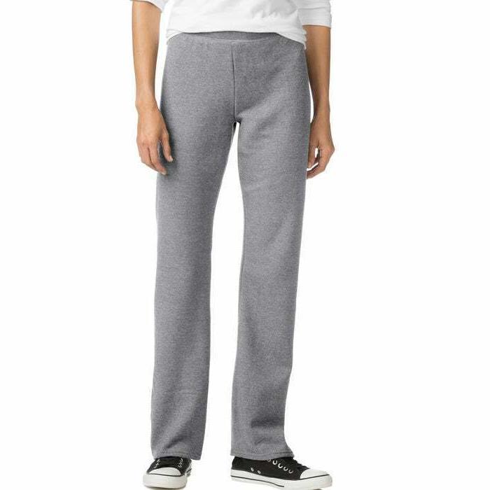 Hanes women sweatpants petite Fleece ComfortSoft Open Bottom Leg