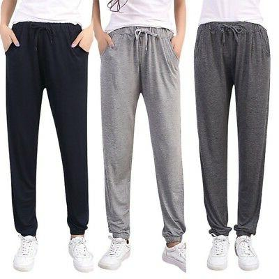 Women Cotton Harem Pants Sweatpants Jogger Sports Slim Fit P