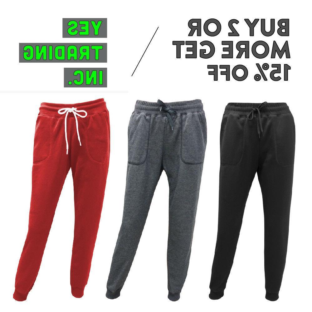 womens casual sweatpants plain joggers fleece pants