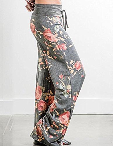 Buauty Womens Cotton Pants Boho Pajama Sweatpants S-3XL