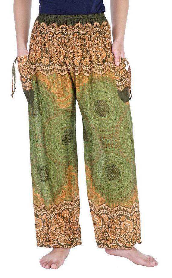 Womens Smocked Waist Trousers