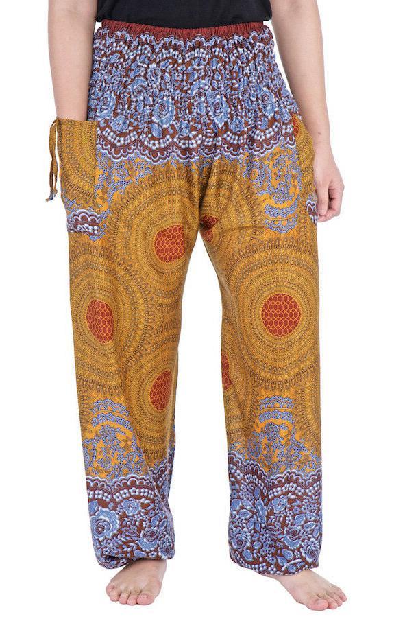 Womens Waist Boho Trousers Rayon Clothing