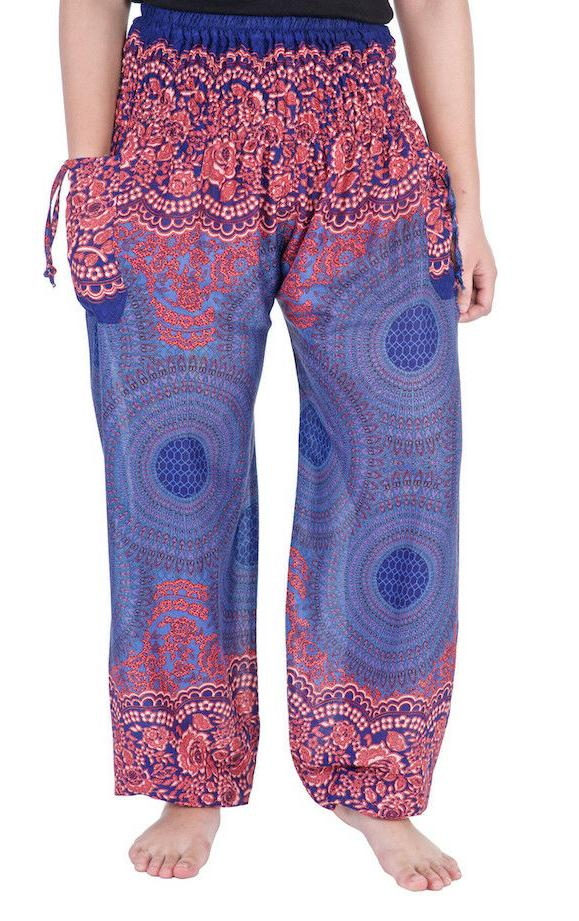 Womens Harem Pants Waist Sweatpants Trousers