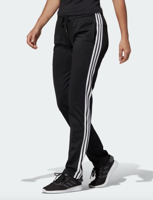 womens sweatpants gray black essential linear pants