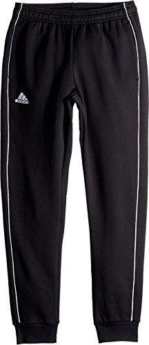 adidas Youth Unisex Soccer Core18 Sweat Pant, Black/White, M
