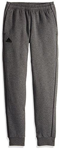 adidas Youth Unisex Soccer Core18 Sweat Pant, Dark Grey Heat
