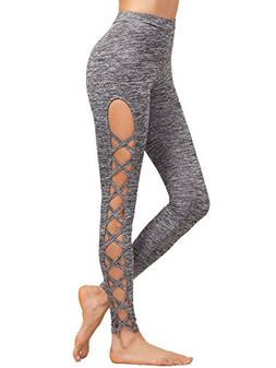 SweatyRocks Leggings Women Yoga Workout Pants High Waist Cut
