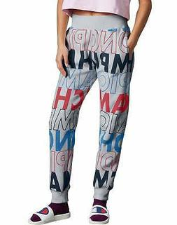 Champion Life Women Joggers Sweatpants Reverse Weave Allover