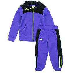 Adidas Little Girls 2-Piece Zip Up Hoodie & Sweatpants Set 2