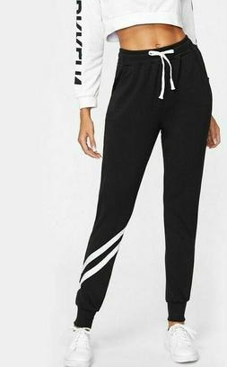 Long Casual Harem Pants Mid Elastic Waist With Drawstring St
