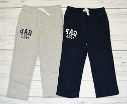 LOT 2 Toddler Boys 4T BABY GAP Logo Pull-On Cotton Sweatpant