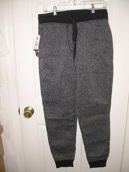 Southpole Mens MARLED FLEECE JOGGER, MARBLED BLACK, XL