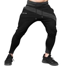 MECH-ENG Men's Gym Joggers Pants Casual Slim Fit Workout Swe