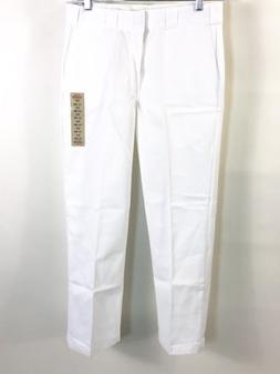 Dickies Men 874WH Flat Front Traditional Work Pants White 32
