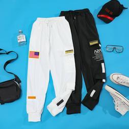 Men Casual NASA Embroidery Joggers Cargo Pants Sweatpants Sp