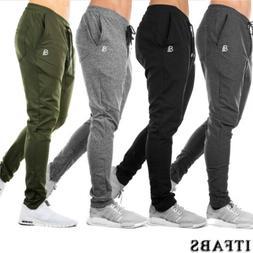 Men Casual Pants Long Trousers Tracksuit Fitness Workout Jog