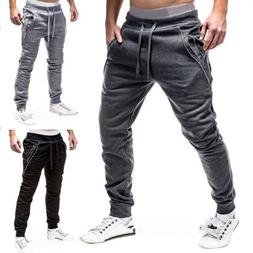 Men Casual Sport Long Pants Slim Fit Trousers Running Jogger