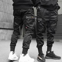 Men Casual Streetwear Joggers Cargo Pants Sweatpants Combat