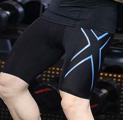 Men Compression Shorts Tight Running Sweat Pants Fitness Qui