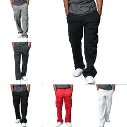 Men Gym Cargo Pro Club Trousers Tracksuit Bottoms Joggers Sw