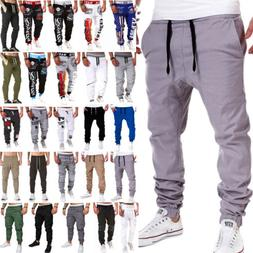 Men Jogging Pants Sports HipHop Tracksuit Trouser Slacks Swe