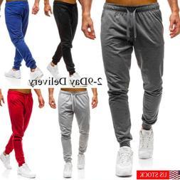 Men Long Casual Sport Pants Gym Slim Fit Trousers Running Jo