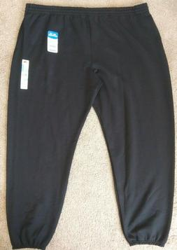 Fruit Of The Loom men's 4XL black sweatpants Eversoft 4X
