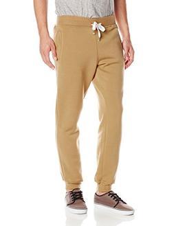 Southpole Men's Active Basic Jogger Fleece Pants, Wheat, Med