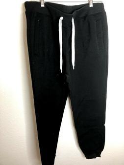 Southpole Men's Active Basic Jogger Fleece Pants, Black, X-L