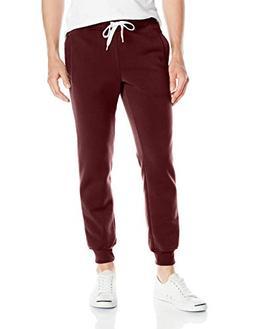 Southpole Men's Active Basic Jogger Fleece Pants, Burgundy N