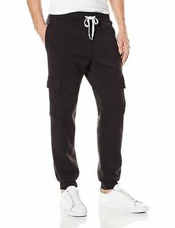 Southpole Men's Active Basic Jogger Fleece Pants, Black  , X