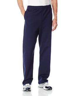 Jerzees Men's Adult Open Bottom Sweatpants, Navy, Large