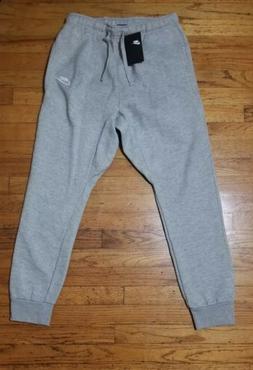 Nike Men's Athletic Wear Ribbed Cuff Drawstring Fleece Jogge