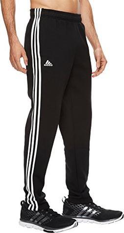 adidas Men's Athletics Essential Cotton 3 Stripe Tapered Pan
