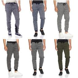 men s basic fleece marled casual jogger