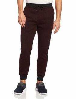 Southpole Men's Basic Fleece Marled Jogger Sweatpant Purple
