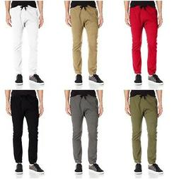 Southpole Men's Basic Stretch Twill Athletic Cotton Jogger P
