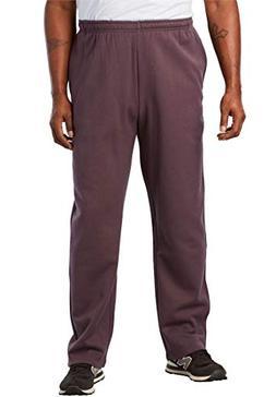 KingSize Men's Big & Tall Fleece Open-Bottom Pants, Raisin T
